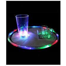 Barware LED 14 Inch Multicolor Flashing Serving Drink Bar Tray