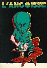 RARE EO REVUE BD L'ANGOISSE N° 1 ( 1974 ) WILLIAM BURROUGHS CLAY-WILSON
