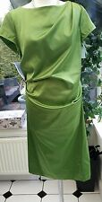 ST. MARTINS GREEN SATIN DRESS - KARISMA - BNWT for £59.99 - Size 12 EU 38
