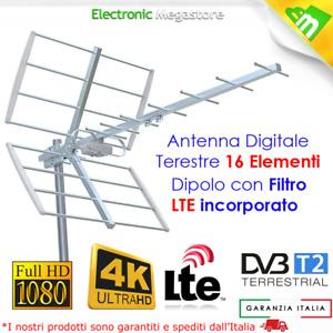 ANTENNA DA ESTERNO UHF AMPLIFICATA CON FILTRO LTE PER TV Digitale Terrestre