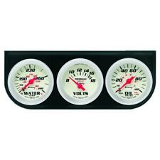 Equus Gauge Set 8200; 8000 Series Water Temp, Volt, Oil Pressure Black 2-1/16""