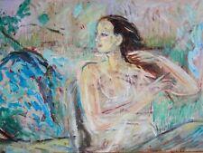 GRANDE & BELLE PEINTURE-FAUVISME-PORTRAIT DE JEUNE FEMME-1998-SIGNÉ PH.LEDUC...-