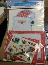 Childrens Letter To Santa Pack & Pencil Christmas Activity pack with stickers et