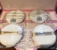 "DERMABLEND PROFESSIONAL round makeup powder puff blender applicator 3.75"" NEW"