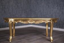 Baroque Feuille d'or table basse style antique MASSIF VINTAGE Rokoko