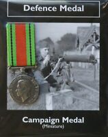 REPRODUCTION Campaign Medal WW2 Miniature British Defence Medal 18mm [CMDM]