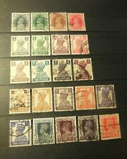 """(22) VINTAGE """"BRITISH INDIA"""" STAMPS (1930's -1940's) =USED"""
