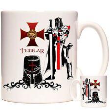 KNIGHTS TEMPLAR GIFT MUG with two Knights Templar and Templar creed shield