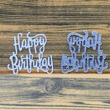 1pc Happy Birthday Metal Cutting Dies Stencil Scrapbooking Card Decor  Craft DIY