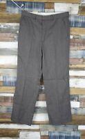 St Michael Grey/Brown Wool Blend Smart Mens Trousers Size W32 L31 NEW