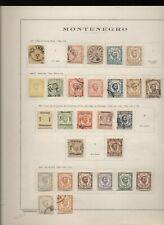 Montenegro 1874/13 collezione su vecchi fogli d'album N2135