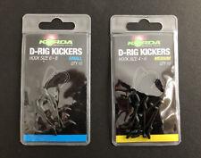 Korda D Rig Kickers  Green - All Sizes - 10pcs per pack