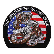 HOMELAND SECURITY 2ND AMENDMENT SUPPORT CREW SNAKE NRA GUN  PATCH