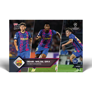 14KFB No Cancel Gavi Yusuf Demir Alex Balde Barcelona 2021 UCL Topps Now Card 18