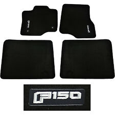 OEM NEW 2015-2018 Ford F-150 CREW CAB Carpet Floor Mats BLACK Embroidered Logo
