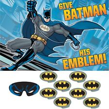BATMAN BIRTHDAY PARTY SUPPLIES GAME ACTIVITY POSTER WITH STICKERS & BLINDFOLD
