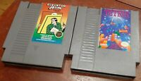 Nintendo NES Elevator Action & Tetris loose carts cleaned & tested, authentic