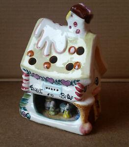 Vintage Derek Fowler Studio Pottery `Sweet Briar` Cottage with Mice, Night Light