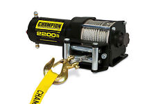 Champion Power Equipment 2,200 lb. ATV/UTV Power Winch Kit 100127