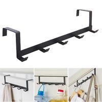 1/2Pcs Over Door Towel Hangers Rack Under Cupboard Hooks Shelf Bathroom Kitchen