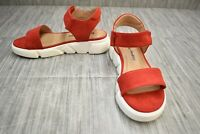 Dirty Laundry Ashville MicroSuede Sport Sandals, Women's Size 8M, Red NEW