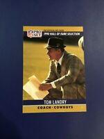 1990 Pro Set #28 TOM LANDRY Hall Of Fame Dallas Cowboys Sharp LOOK !