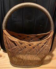 Oval Wicker Basket w/Handle