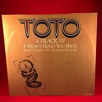 """TOTO I Won't Hold You Back 1983 UK 4-track 12"""" Vinyl Single EXCELLENT CONDITION"""
