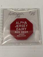 Token Alpha Jersey Dairy Red Deer Alberta Canada Red Token Coin Vintage P1