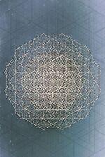 NEW SACRED MANDALA STAR GEOMETRY ARTWORK WALL ART PRINT PREMIUM POSTER GEO 2