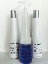 PRAVANA THE PERFECT BLONDE PURPLE TONING COMBO-SHAMPOO, CONDITIONER & SPRAY
