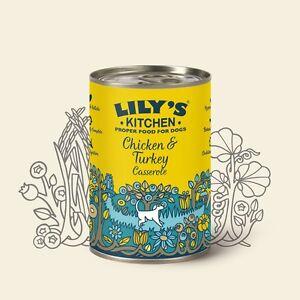 Lily's Kitchen Chicken/Turkey Casserole For Dogs 6 Tins Wet Dog Food Grain Free