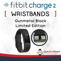 Fitbit Charge 2 Gunmetal Black Replacement Wristband Accessory!