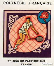 Polynesia French FDC Envelope 1st day GAMES PACIFIC TENNIS HA22