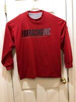 Vintage Fox Racing Graphic T-Shirt Mens Red Cotton Long Sleeve Estimated Sz 3XL
