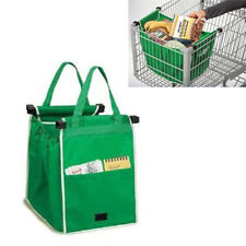 Shopping Grab Bags Reusable Fabric Grocery Foldable Trolley Tote Clip-To-Cart US