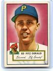 1952 TOPPS #236 ED FITZGERALD BASEBALL CARD, PITTSBURGH PIRATES