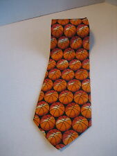A. Rogers Orange & Black Silk Basketball Men's Classic Neck Tie New