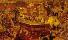 Arnold Friberg GENTLEMEN'S FOURSOME art print billiards, ARTIST PROOF A/P#11/100