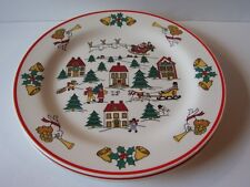 Jamestown Joy of Christmas Set of 2 Dinner Plates Holiday