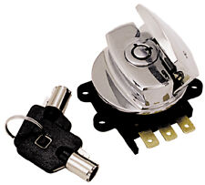 CHROME 3 position Round Key Ignition Switch Harley Softail FXDWG Road King