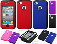 For Apple iPhone 4 4S IMPACT Verge HYBRID Case Skin Phone Cover Accessory
