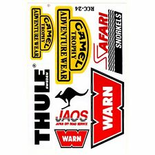 New Warn Thule Sweden Camel Trophy Safari Car Racing Off Road Logo Sticker Decal