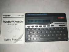 Franklin Wordmaster Deluxe Wm-1055A Pocket Spell Checker Thesaurus Games, Tested