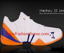 New Authentic Starbury 2 White Blue Orange Low Top Athletic Shoes Size 13