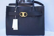 New Tory Burch Gemini Link Tote Bag Black Leather Satchel Handbag