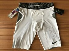 MENS NIKE PRO HYPERSTRONG COMPRESSION SHORT Sz M WHITE BASEBALL 💰35