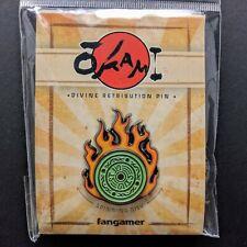 Okami Divine Retribution Spinning Enamel Pin Amaterasu Reflector Disc Official