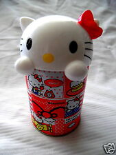 Hello Kitty Collectible Tin With Plastic Lid (7 x 4 INCHES)