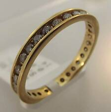 14KT YELLOW GOLD .93 CTTW DIAMOND ETERNITY BAND RING SIZE 8.25 (24R 20-10139)